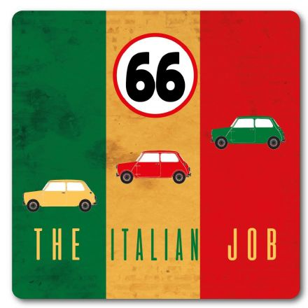 The Italian Job Metal Wall Sign